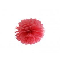 Pompon Papier de Soie 25cm Rouge Décoration de Fête