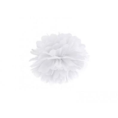Pompon Papier de Soie 25cm Blanc Décoration de Fête
