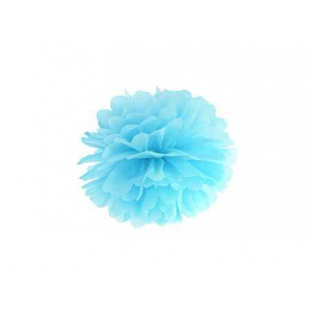 Pompon Papier de Soie 25cm Bleu Clair Décoration de Fête