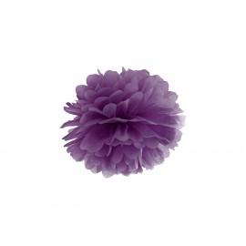 Pompon Papier de Soie 25cm Violet Décoration de Fête