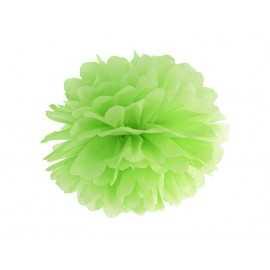 Pompon Papier de Soie 25cm Vert Pomme Décoration de Fête