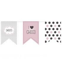 Banderole I love choco & sweets