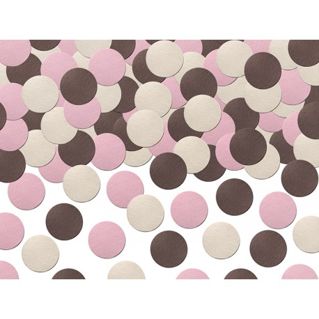 Confettis Ronds Rose Chocolat Blanc I love choco & sweets