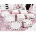 Etiquettes De table à pois Rose et chocolat Sweets I love choco & sweets