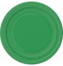 Grandes Assiettes en Carton Vert émeraude