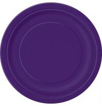 Petites Assiettes Violet Vaisselle Jetable de Fête