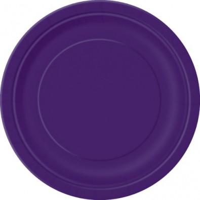 Grandes Assiettes Violet Vaisselle Jetable de Fête