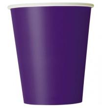 Verres Jetables en Papier Violet Foncé de Fête