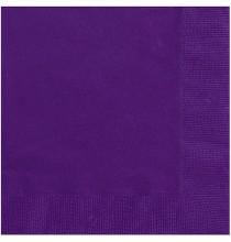 Serviettes Cocktail en Papier Violet Foncé