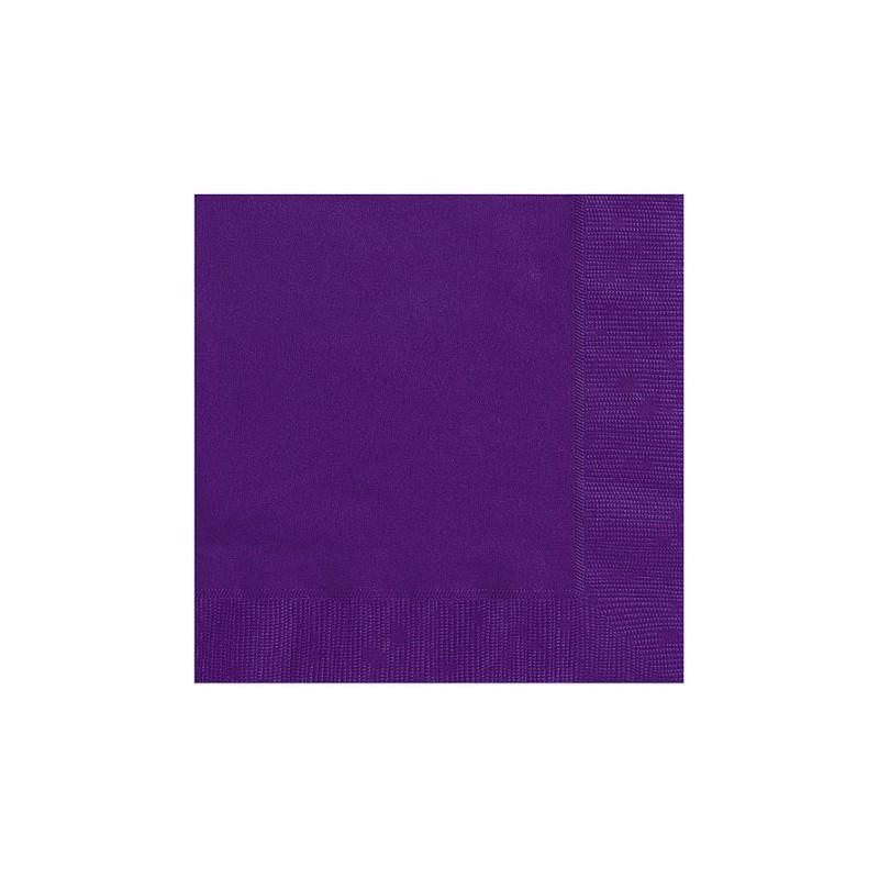Serviettes cocktail en papier violet fonc organisation de - Couleur violet fonce ...