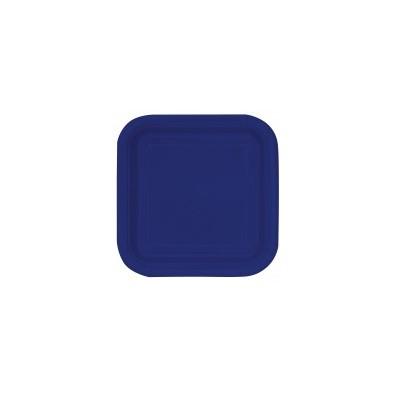 petites assiettes carr bleu marine uni pour l 39 organisation de f te. Black Bedroom Furniture Sets. Home Design Ideas