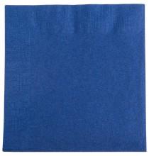 Serviettes Cocktail Papier Carré Bleu Marine Vaisselle Jetable de Fête