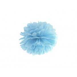 Grand Pompon Papier de Soie 35cm Bleu Pastel Décoration de Fête