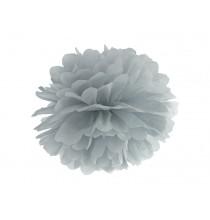 Pompon Papier de Soie 25cm Gris clair Décoration de Fête