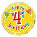 Ballon Quatre ans Anniversaire Happy 4th Birthday