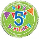 Ballon Cinq ans Anniversaire Happy 5th Birthday