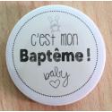 Badge C'est mon Baptême 38mm