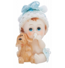 Figurine Bébé Garçon avec petit chien