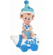 "Figurine Bébé Garçon sur Biberon ""baby"""