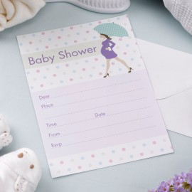 10 Invitations Baby Shower Future Maman