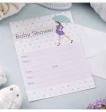 10 Invitations Baby Shower Future Maman