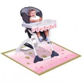 Décoration Chaise Haute Premier Anniversaire Etoiles Little Star
