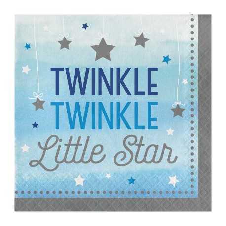 Serviettes Etoiles Bleues Little Star