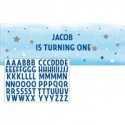 Banderole Géante Bleue Plastique Personnalisable Décoration Little Star Etoiles