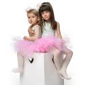 Tutu T4 Jupe en tulle rose clair sur ruban satin fait main Bébé et Petite Fille