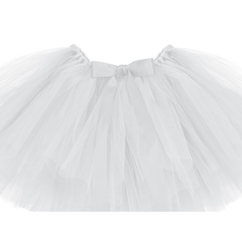 tutu t1 tulle blanc en jupe b b fille naissance fait main. Black Bedroom Furniture Sets. Home Design Ideas