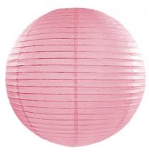 Boule de Papier Rose Clair Lanterne 20 cm Décoration