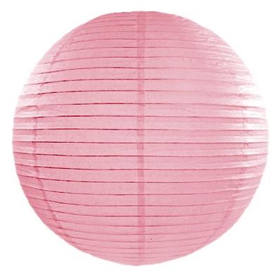Boule de Papier Rose Clair Lanterne 25 cm Décoration