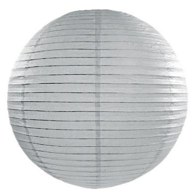 Boule de Papier Gris Lanterne 20 cm Décoration de fête