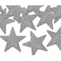 8 Etoiles Glitter Argent Décorations de fête