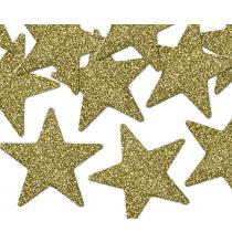 8 Etoiles Glitter Doré Décorations de fête