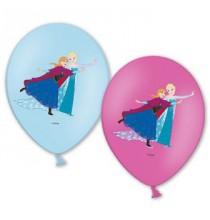 6 Ballons latex  Reine des Neiges Anna et Elsa