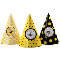 6 Chapeaux de Fête Abeilles Party