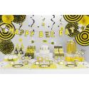 6 Boîtes à Cadeaux/ Bonbons Jaune et Noir Rayés et à pois