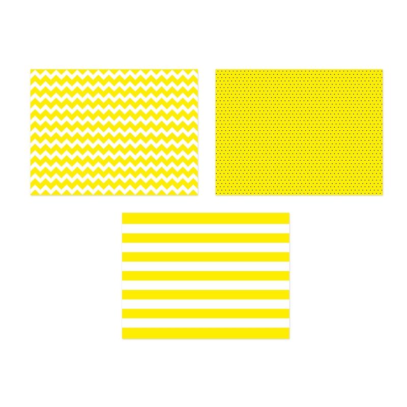 Sets de table papier jaune et blanc pois et ray e sweet table for Set de table jaune