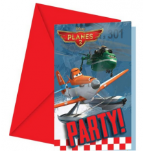 Invitation + Enveloppe Anniversaire Planes 2 Disney Avion Joyeux Anniversaire