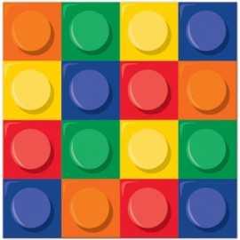Serviettes à thème Anniversaire Lego et Bloc Party