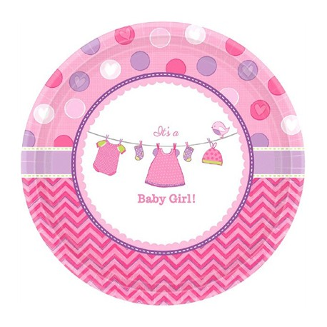 Grandes Assiettes Baby Shower Rose