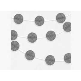Banderole Mini Boules Alvéolées - Gris