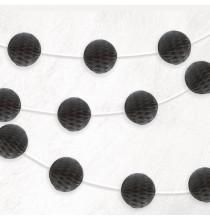 Banderole Mini Boules Alvéolées - Noir