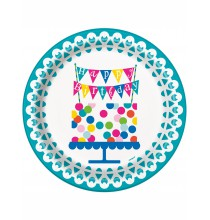 Grandes Assiettes Confetti Party Anniversaire