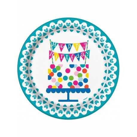 Grandes Assiettes Confetti Party Anniversaire