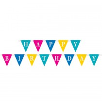 Banderole à Fanions Happy Birthday Confetti Party Anniversaire