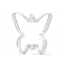 Contenant A Dragées Forme Papillon Transparent