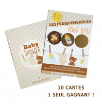 10 Cartes à Gratter Baby Shower Jeu