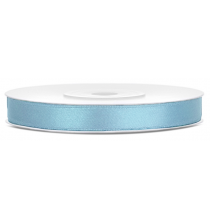 Ruban 6mm Satin Bleu Pastel 25m